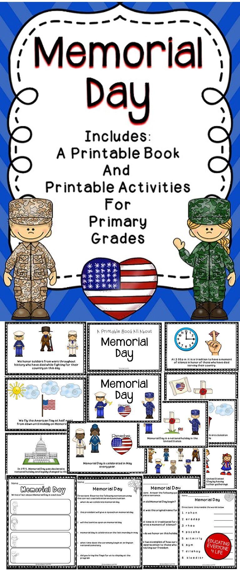Memorial Day Activity Book Memorial Day Activities Book Activities Memorial Day [ 1824 x 768 Pixel ]