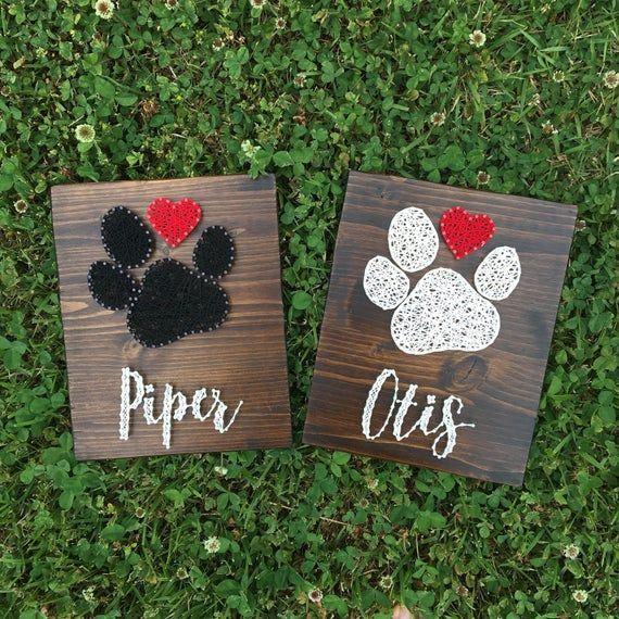 Dog Paw and Name Art