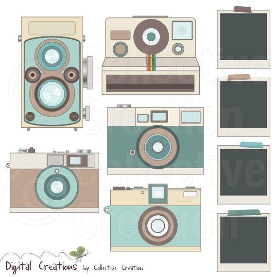 Este conjunto Retro Cámara Digital Clip Art viene con 5 x de la ...