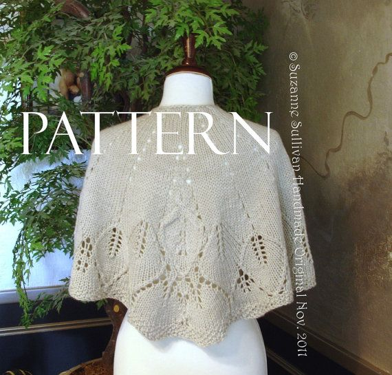 PDF, Knitting Pattern, Country Walk Cape Pattern, Country Walk Shawl ...