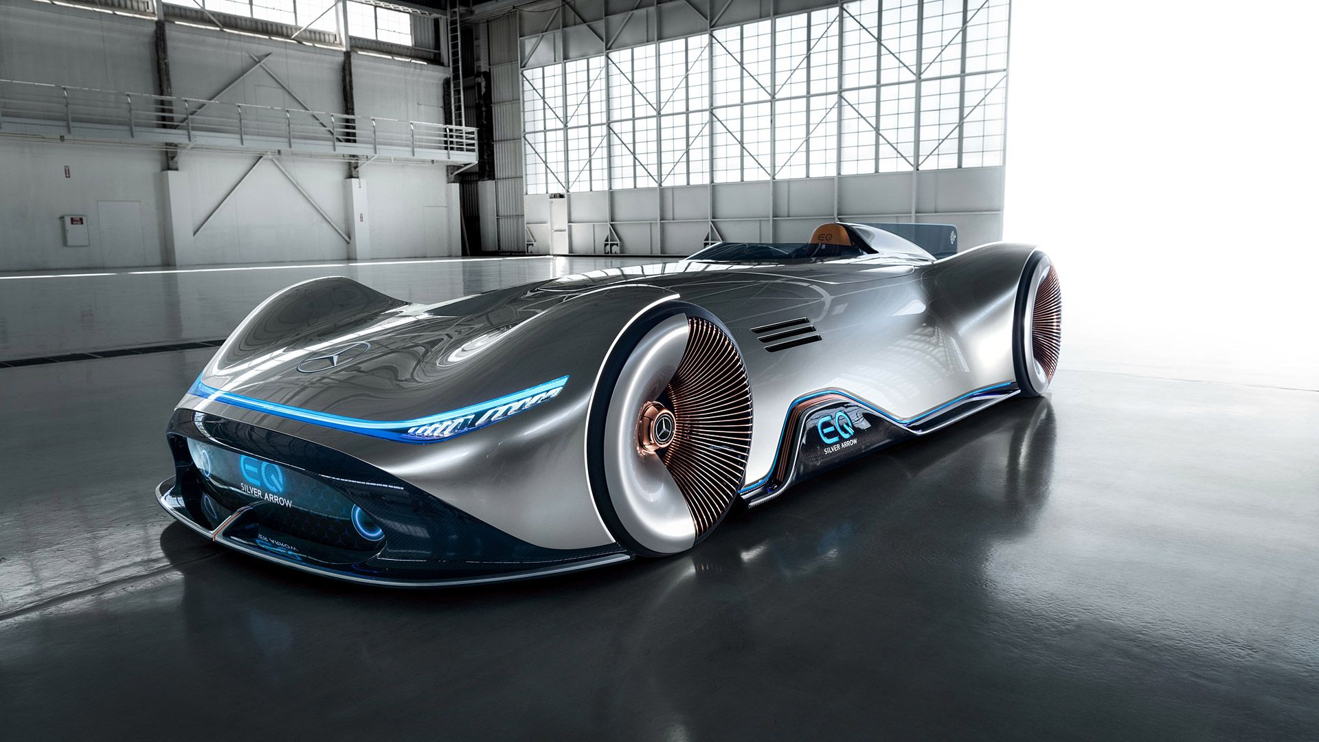 2018 Mercedes Benz Vision Eq Silver Arrow Concept Future Concept Cars Mercedes Maybach Mercedes Benz
