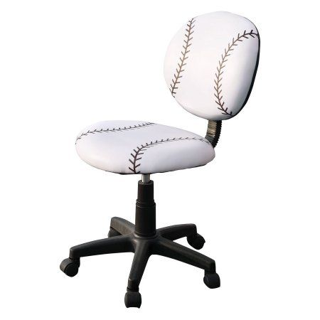 Phenomenal Baseball Office Task Chair White In 2019 Products Ocoug Best Dining Table And Chair Ideas Images Ocougorg