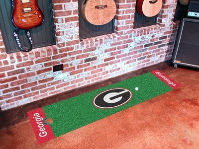 Georgia Putting Green Runner by Fanmats. $23.80. Georgia Putting Green RunnerOfficially licensed putting green runner. Realistic putting surface. 11 on the Stimp meter. Chromojet-printed nylon surface with vinyl backing. Can be used as a runner when not practicing. Comes with plastic target and flag. Please note: These products are custom made. The normal lead time is about 7-10 business days. However, the putting mats and carpet tiles do take a little longer, about 1...