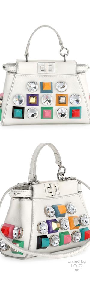 Fendi Peekaboo Micro Studded Satchel Bag   LOLO❤︎