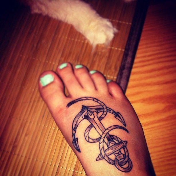 my first tat <3  #tattoo #anchor #anchortattoo