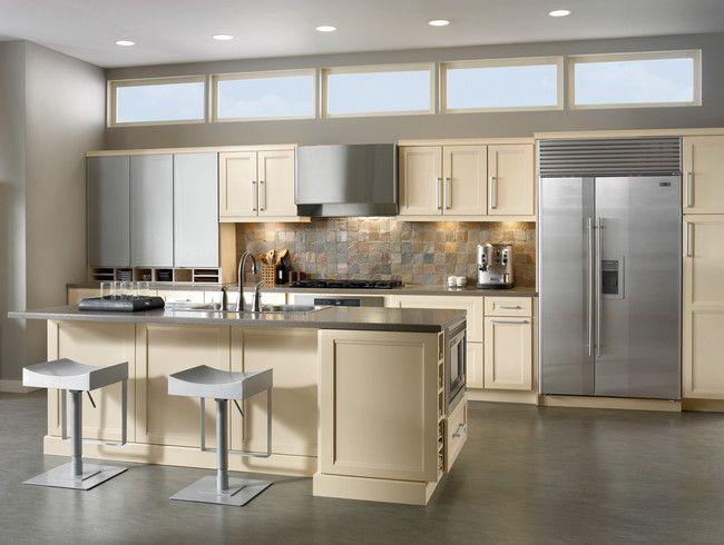 Modern Cream White Kitchen Cabinets, Kitchen Designs Ideas I Like The Back  Splash. KraftMaid ...