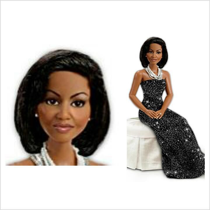 Michelle Obama doll. Would you buy it? http://kurleebelle.blogspot.com/2012/12/michelle-obama-doll.html