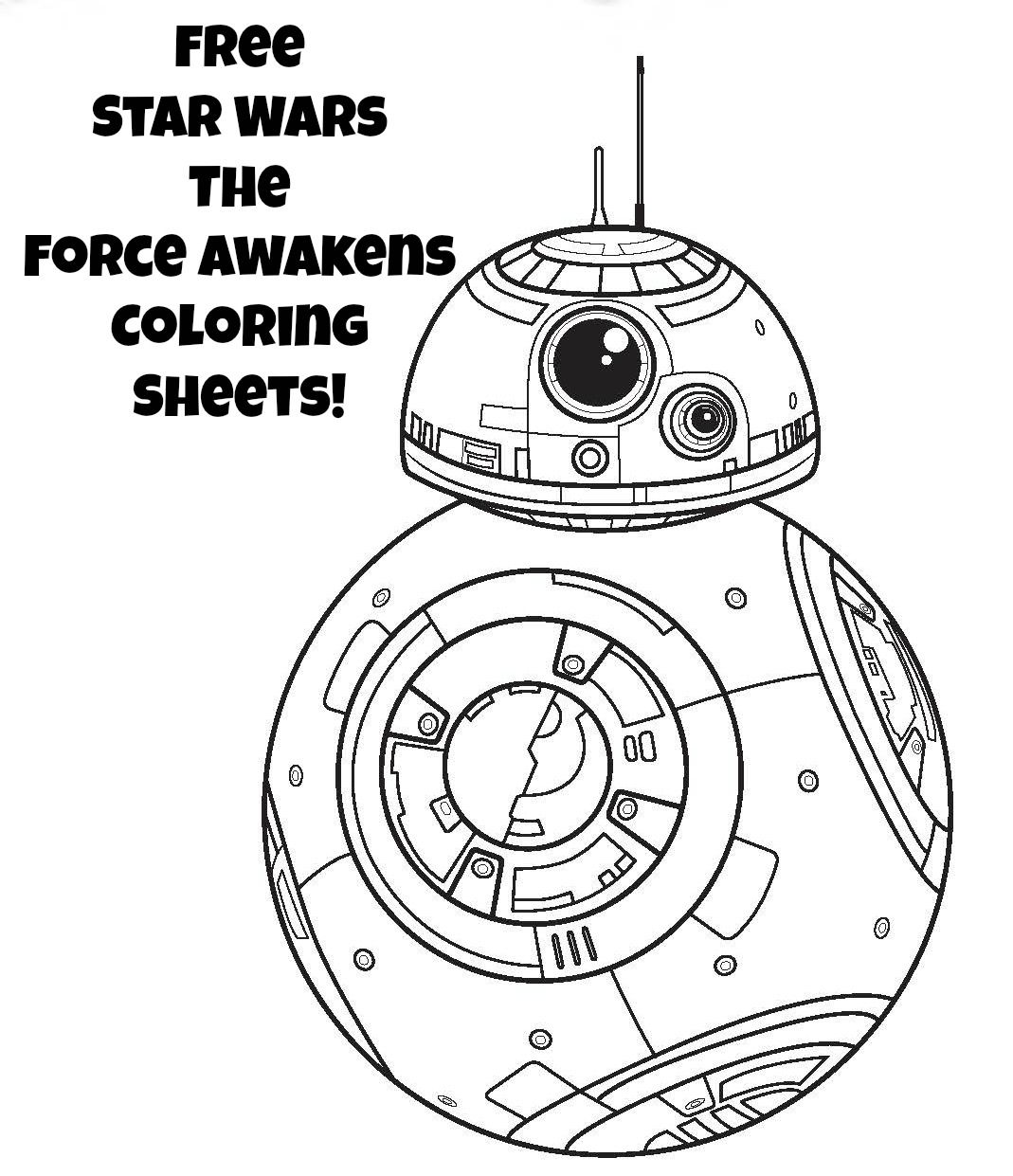 Star Wars Coloring Pages The Force Awakens Coloring Pages Star Coloring Pages Star Wars Prints Star Wars Bb8