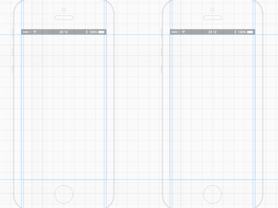 iPhone 5 White Wireframe Template Iphone, Ui kit, Iphone 6