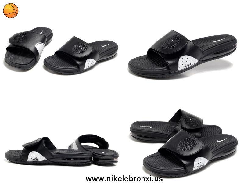 bea22af26b15 Nike Air Lebron Slide Sandals black white