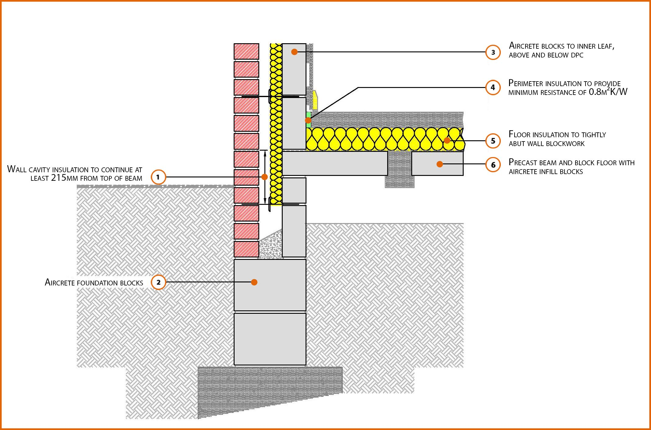 E5mcpf19 suspended beam and block floor insulation above Insulated block construction