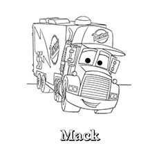 Print Coloring Image Mack TrucksColoring Pages