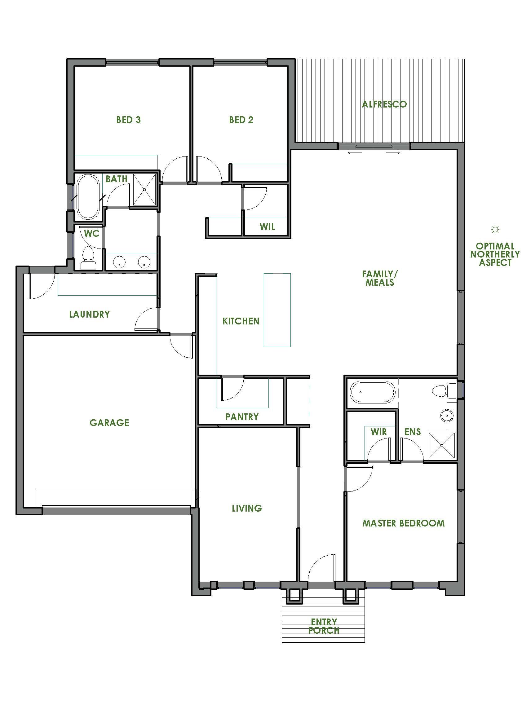 A Green Homes Design Is Always Of The Highest Quality The Wickham Energy Efficient Home Design Is One Of Many Metal House Plans Floor Plans Green House Design