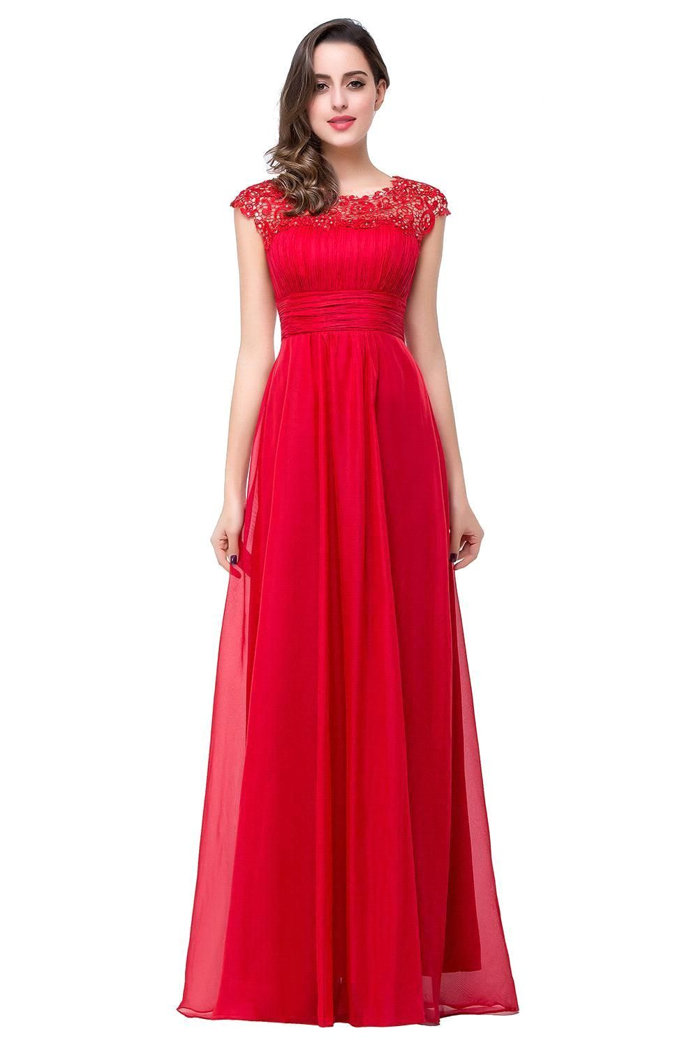 So beautiful long red chiffon bridesmaid dress 2016 prom dress so beautiful long red chiffon bridesmaid dress 2016 ombrellifo Image collections