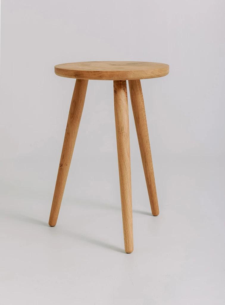Bedside Footstool: Stool, Oak, Bedside Stool