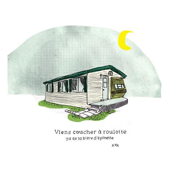 Roulotte et géographie by Mélanie Ouellette, via Behance