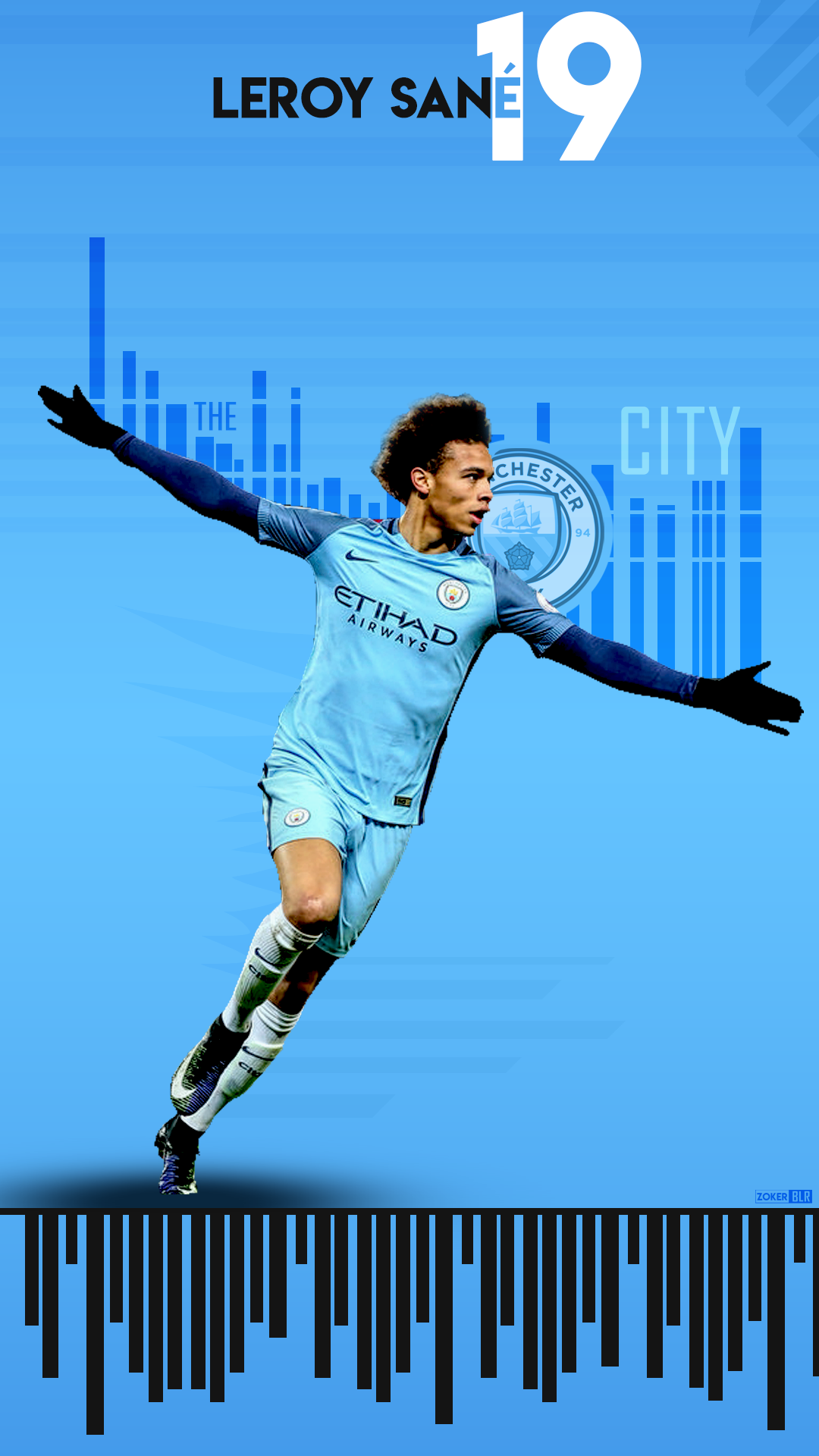 Leroy Sane Wallpaper Lockscreen By Zokerblr Manchester City Football Club Manchester City Leroy Sane