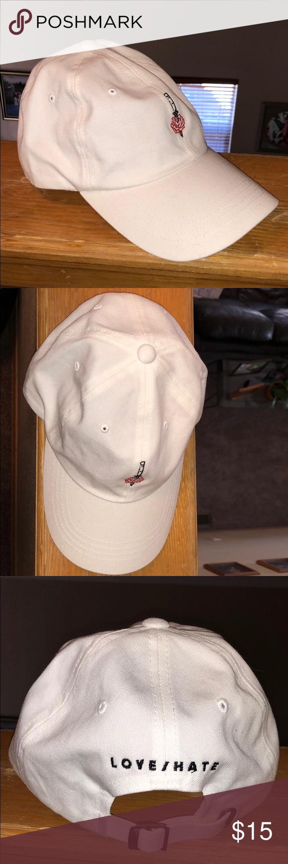 90a4fa1e1fc G-EASY LOVE HATE CAP White G Eazy Love Hate Dad hat Accessories Hats