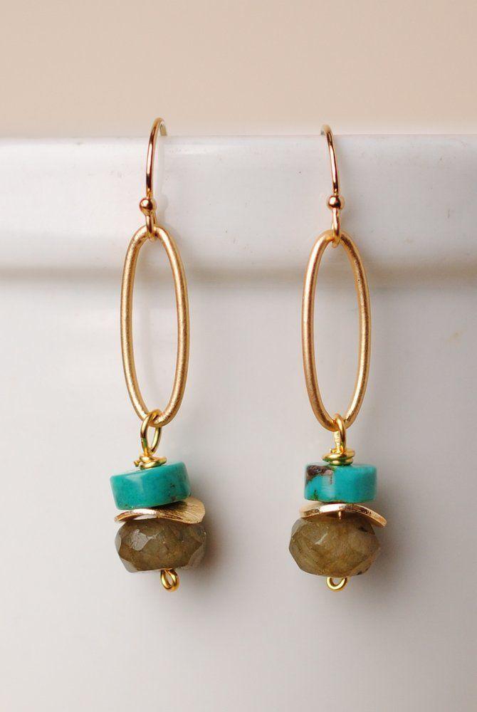 Sunrise Simple Gemstone Dangle Earrings With Images Jewelry Accessories Ideas Gemstone Jewelry Handmade Artisan Earrings
