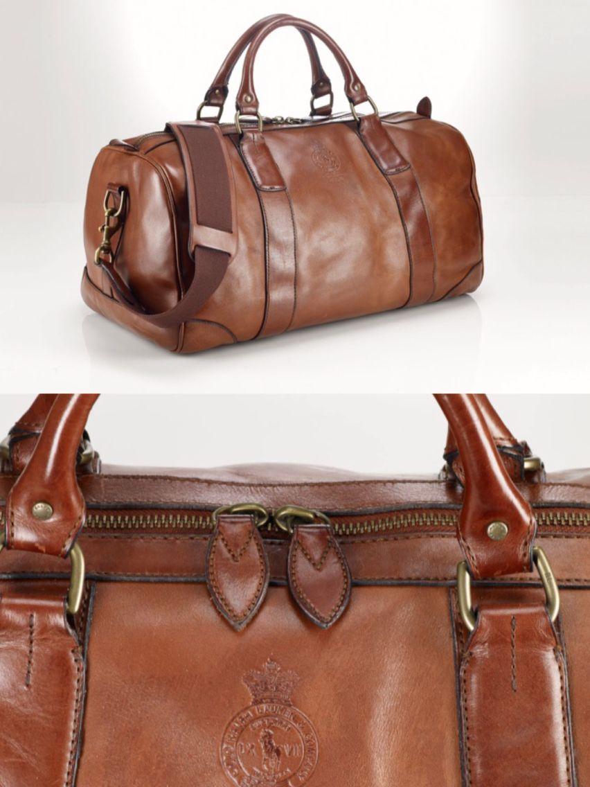 4d49036d59 Polo Ralph Lauren brown leather duffle bag £500