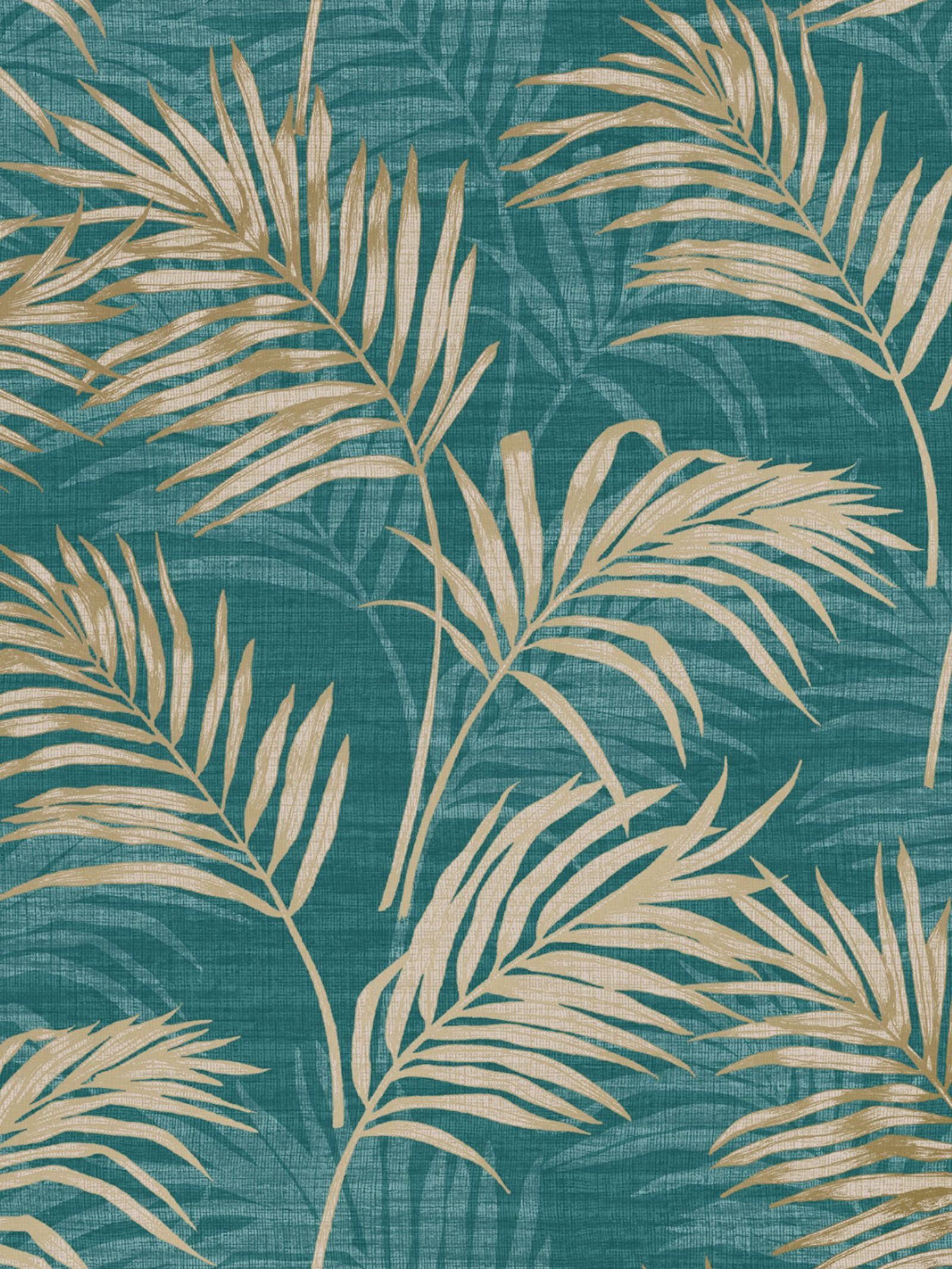 Lounge Palm Wallpaper Teal Gold Grandeco A46105 Leaf Wallpaper Palm Leaf Wallpaper Palm Wallpaper