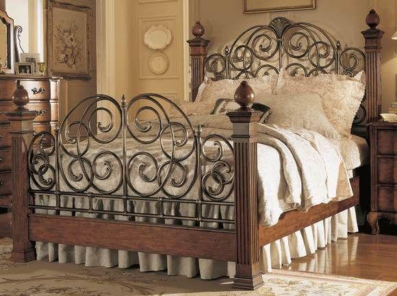 Bedroom Furniture, Wood Wrought Iron Bedroom Furniture