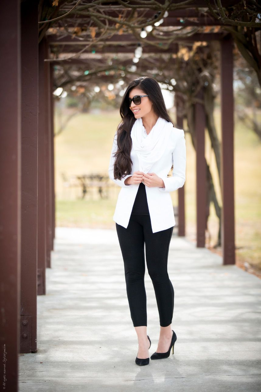 53ae01b2ef Black White Chic Outfit - Stylishlyme