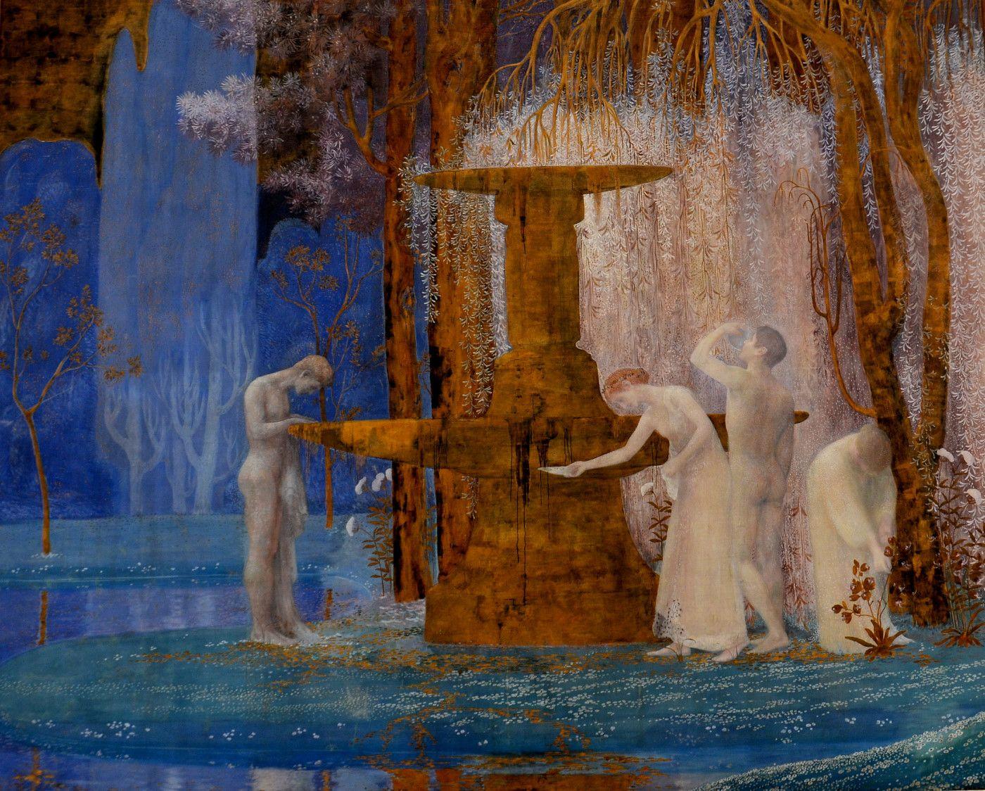 La Fontaine De L Inspiration 1907 By Constant Montald Schilder