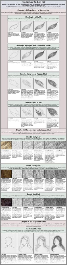 basico do desenho de cabelos