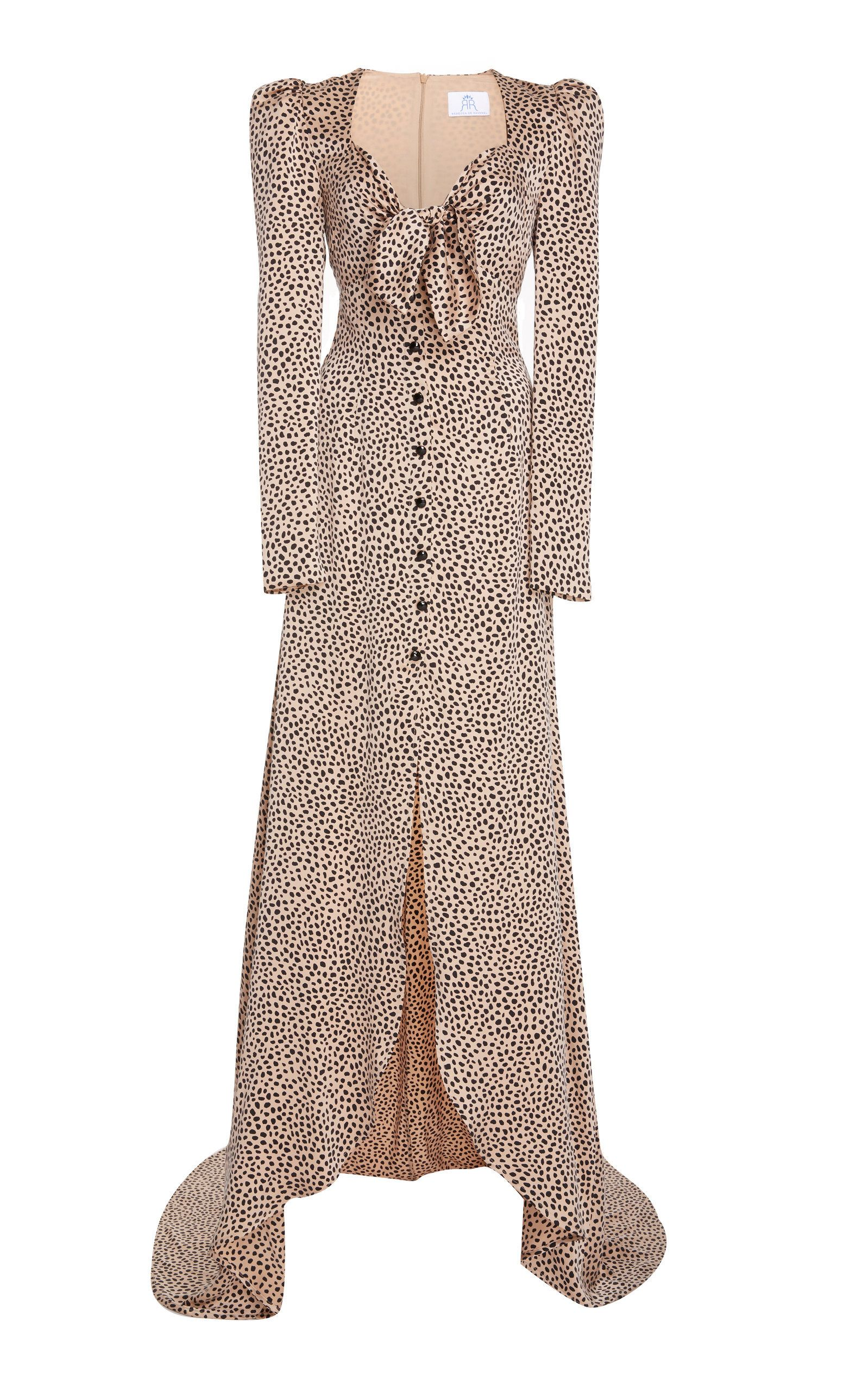 Fake For Sale MO Exclusive Tie-Front Polka-Dot Silk-Charmeuse Gown Rebecca de Ravenel Visa Payment Free Shipping 2018 New 2018 New p1bNN