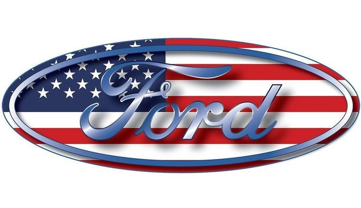Ford oval emblem american flag usa car wall window removable