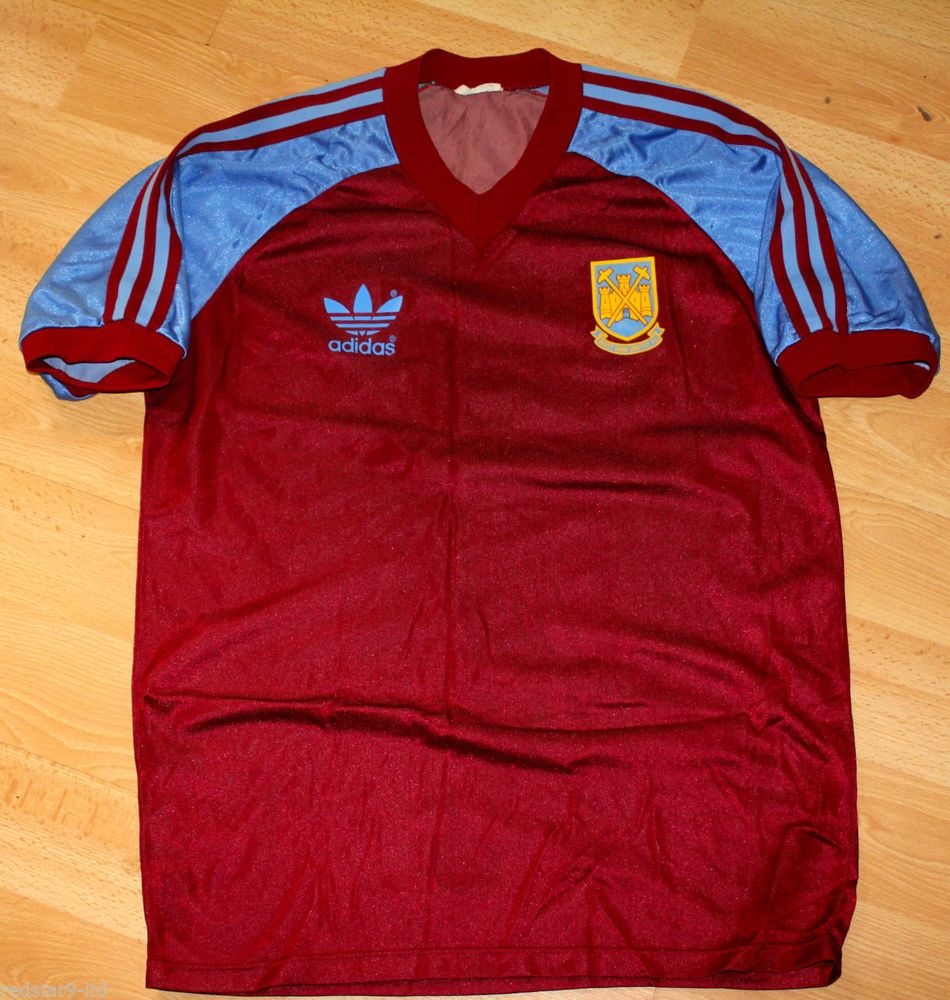 ADIDAS WEST HAM UNITED WHUFV CLASSIC 1970 S EARLY 1980 S HOME SHIRT ... 79d61d2ab