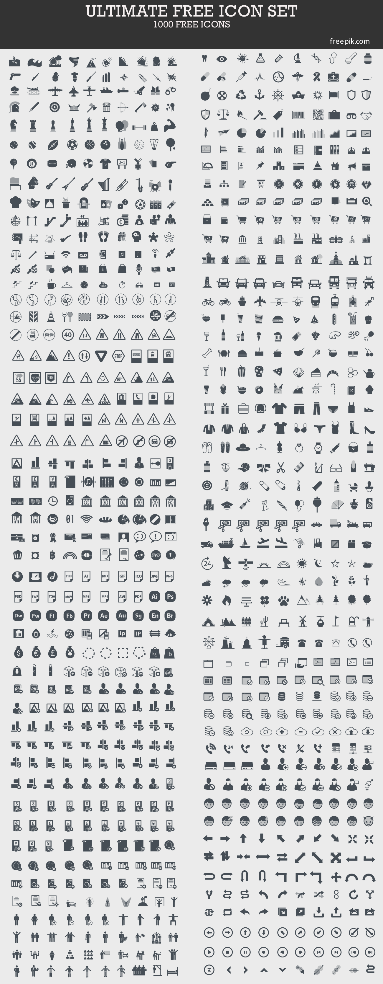 ultimate free icon set 1000 icons this is a great set to use as