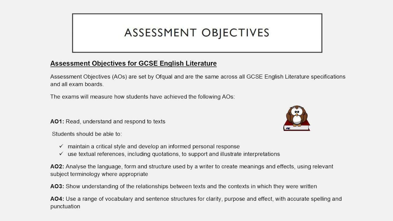 GCSE English Literature Assessment Objectives - YouTube | ETE ...