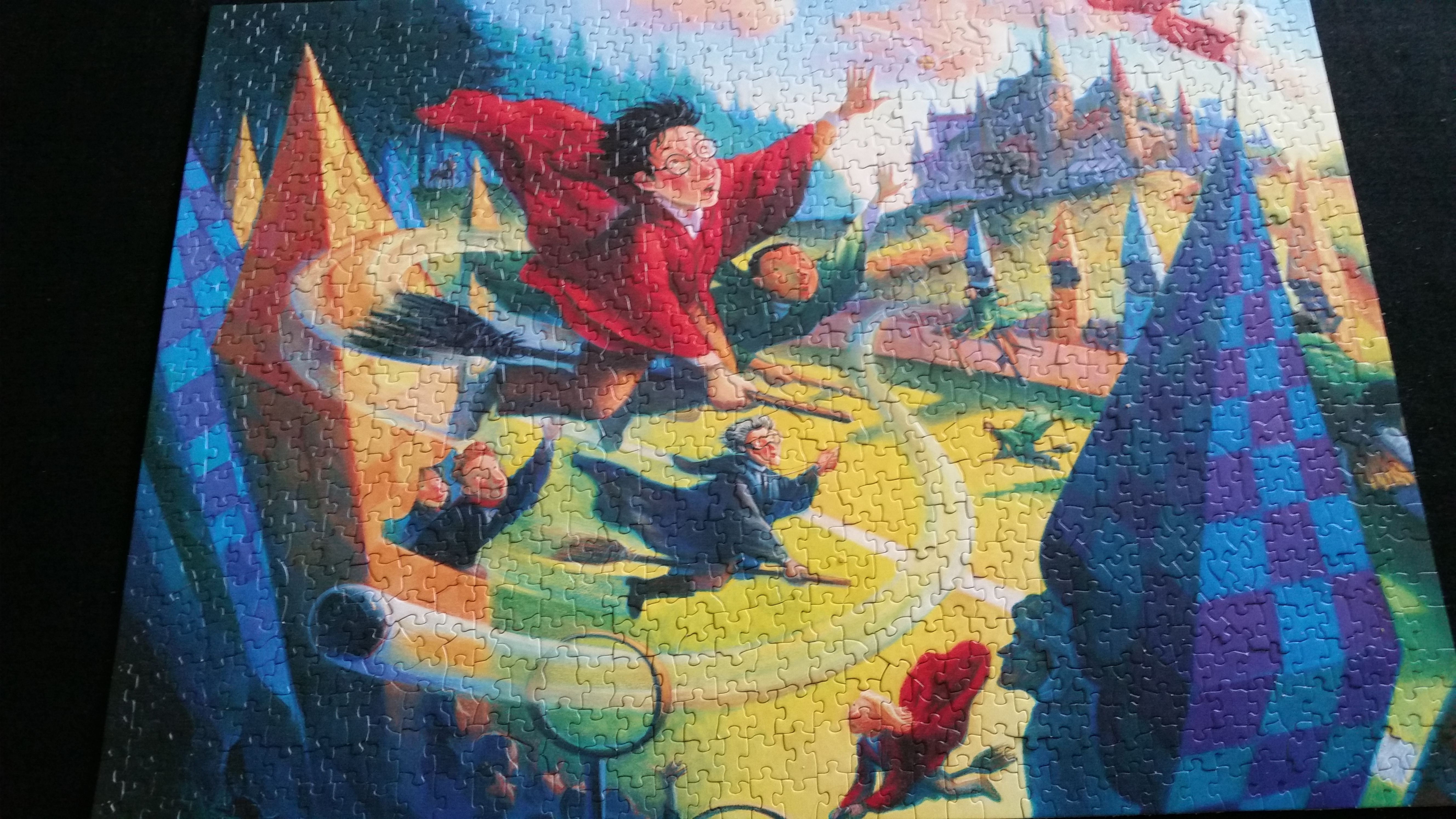 Harry Potter Quidditch (1,000) Art, Painting, Harry potter