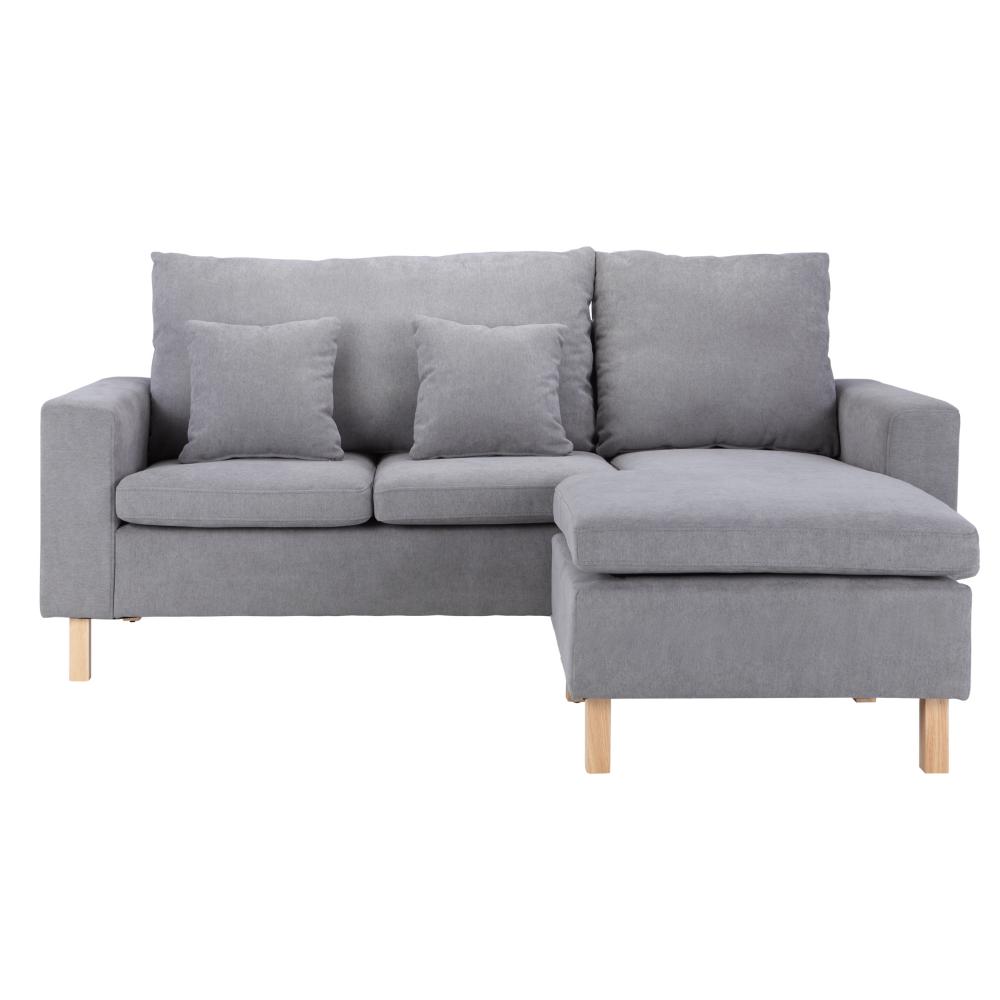 Furniture Source Philippines | Rogan Fabric L-Shape Sofa (Gray) | L Shaped Sofa, Small L Shaped Sofa, L Shaped Sofa Designs