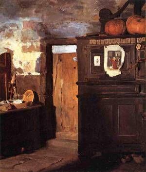 FREDERICK ARTHUR BRIDGEMAN Cottage Interior (1869)
