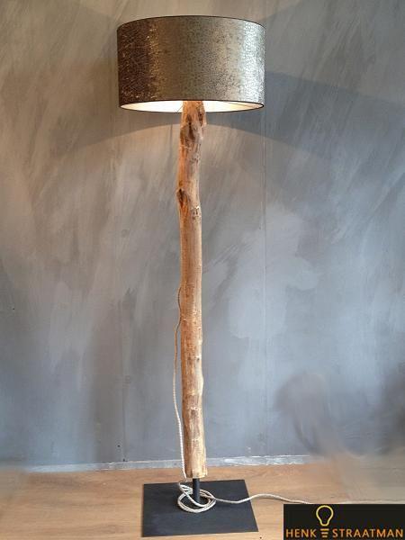 Houten lampen vloerlamp big one exclusive houten lampen for Exclusive lampen