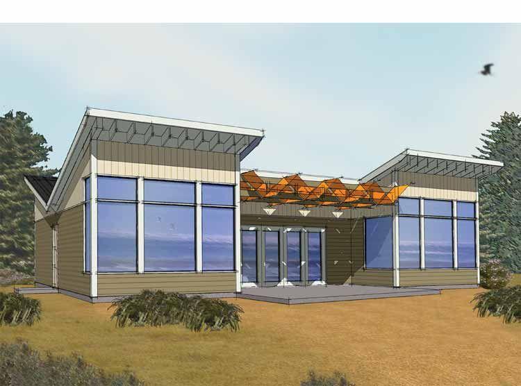 Modern one story farmhouse plans house plans aflfpw12060 for Prefab modern farmhouse