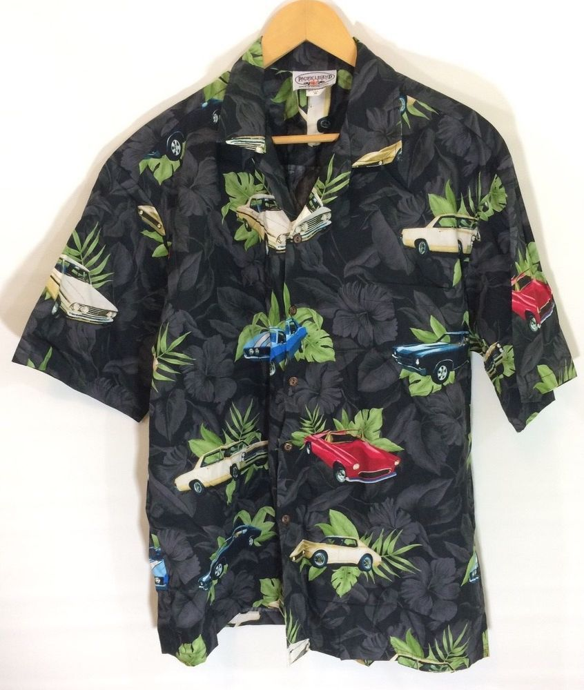 ee07880e Classic Cars Hawaiian Shirt Pacific Legend XL Made in USA Black Leaves |  Clothing, Shoes & Accessories, Men's Clothing, Casual Shirts | eBay!