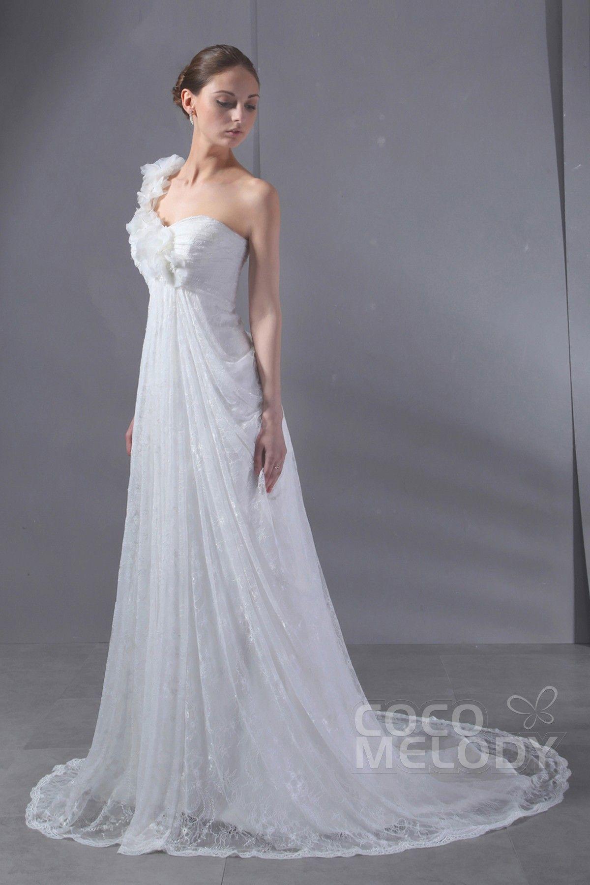 Usd 279 Sheath Column Court Train Lace Wedding Dress Cwlt13058 Wedding Dress Types Empire Wedding Dress Wedding Dresses Lace