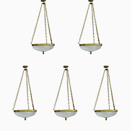 Vintage Kronleuchter Aus Glas Und Bronze, 5er Set Jetzt Bestellen Unter:  Https://moebel.ladendirekt.de/lampen/deckenleuchten/kronleuchter/?uidu003df4c13851 Fb5c  ...