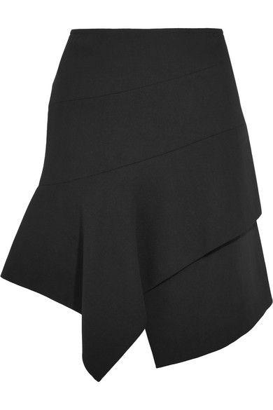 Alaïa – Asymmetric wool-blend mini skirt