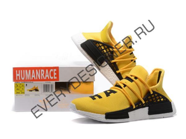 Pharrell williams x adidas nmd razza umana giallo le scarpe