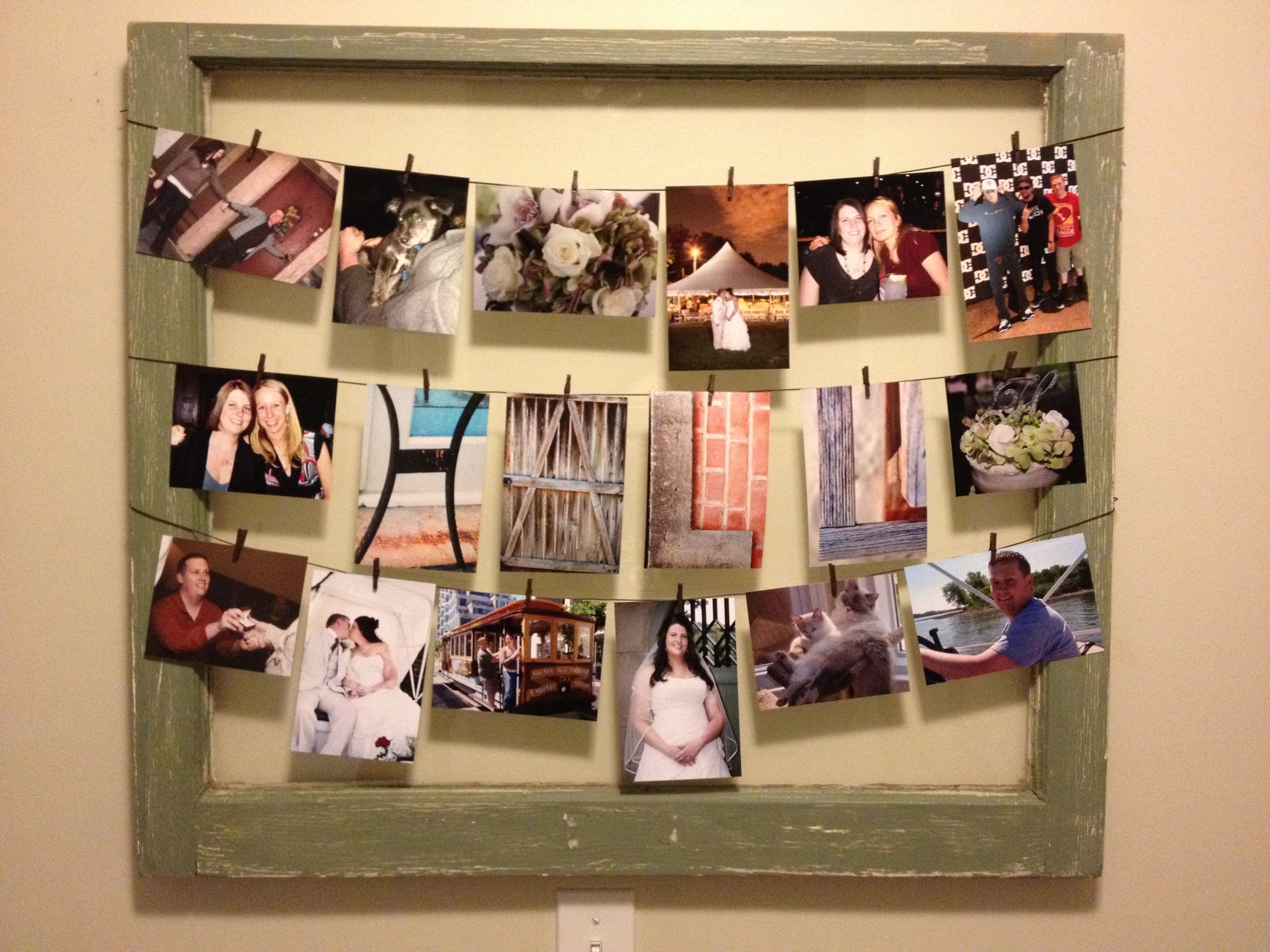 Pin By Stephanie Hall On My Pinterest Picture Frame Decor Clothesline Pictures Decor