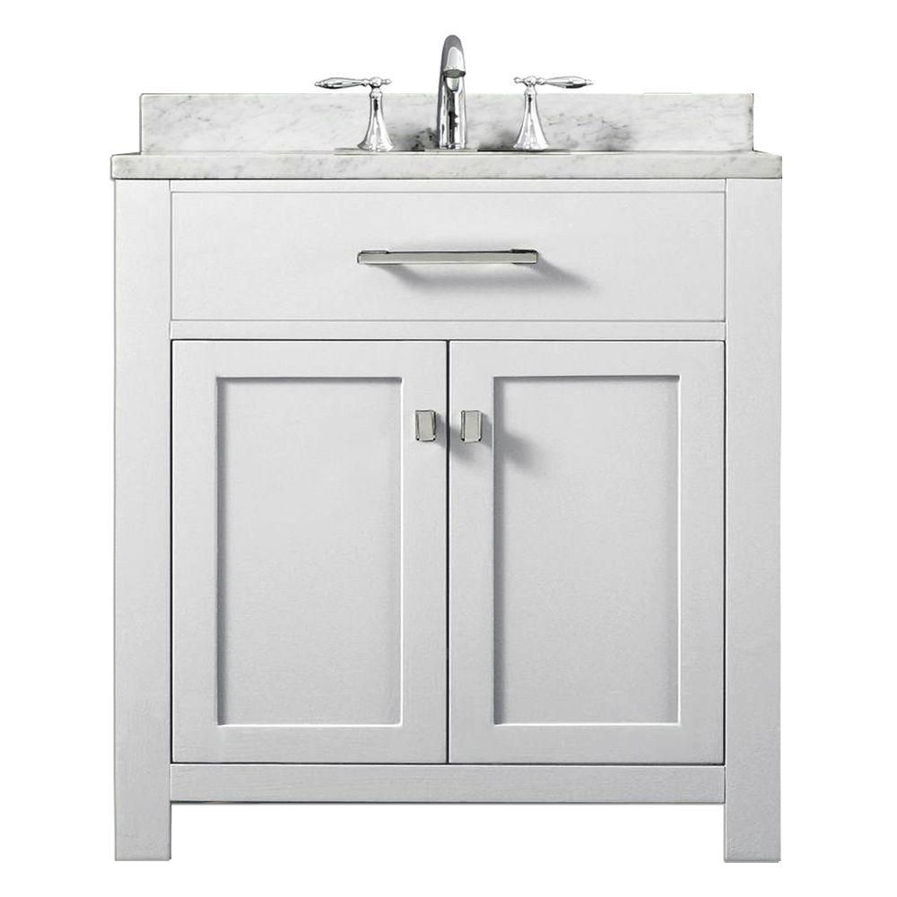 Water Creation Madison 30 Invanity In Modern White With Marble Best 30 Bathroom Vanity With Top Decorating Design