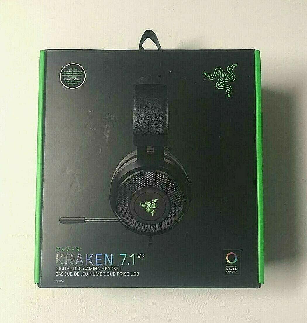 Used Razer Kraken 7 1 Chroma V2 Surround Sound Usb Gaming Rz04 02060 Read Gaming Headphones Ideas Of Gaming Headphones Gamin Gaming Headphones Razer Usb