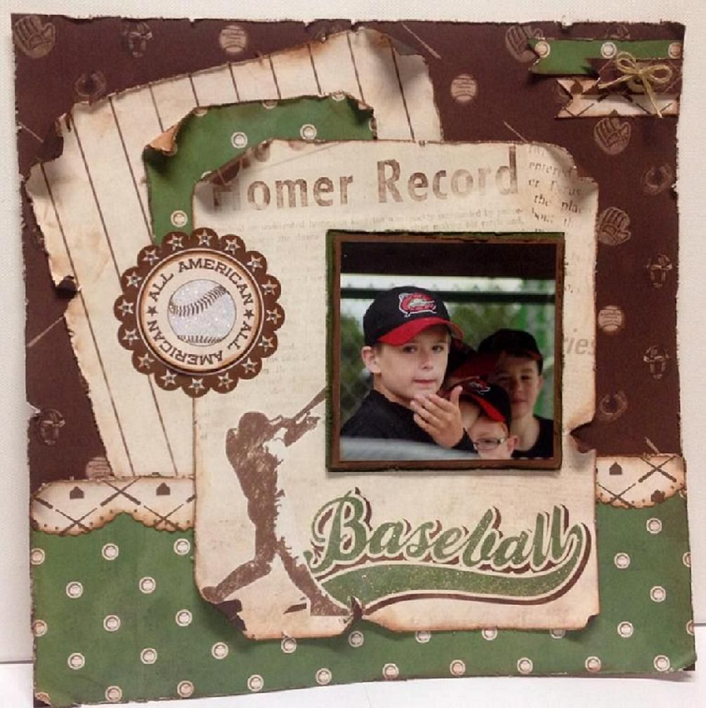 Scrapbook ideas about me - Take Me Out To The Ball Game Scrapbook Com