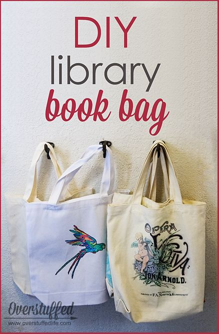 499c52668d8e Get your kids excited for summer library trips by making this incredibly  simple and personalized book bag. It s a fun