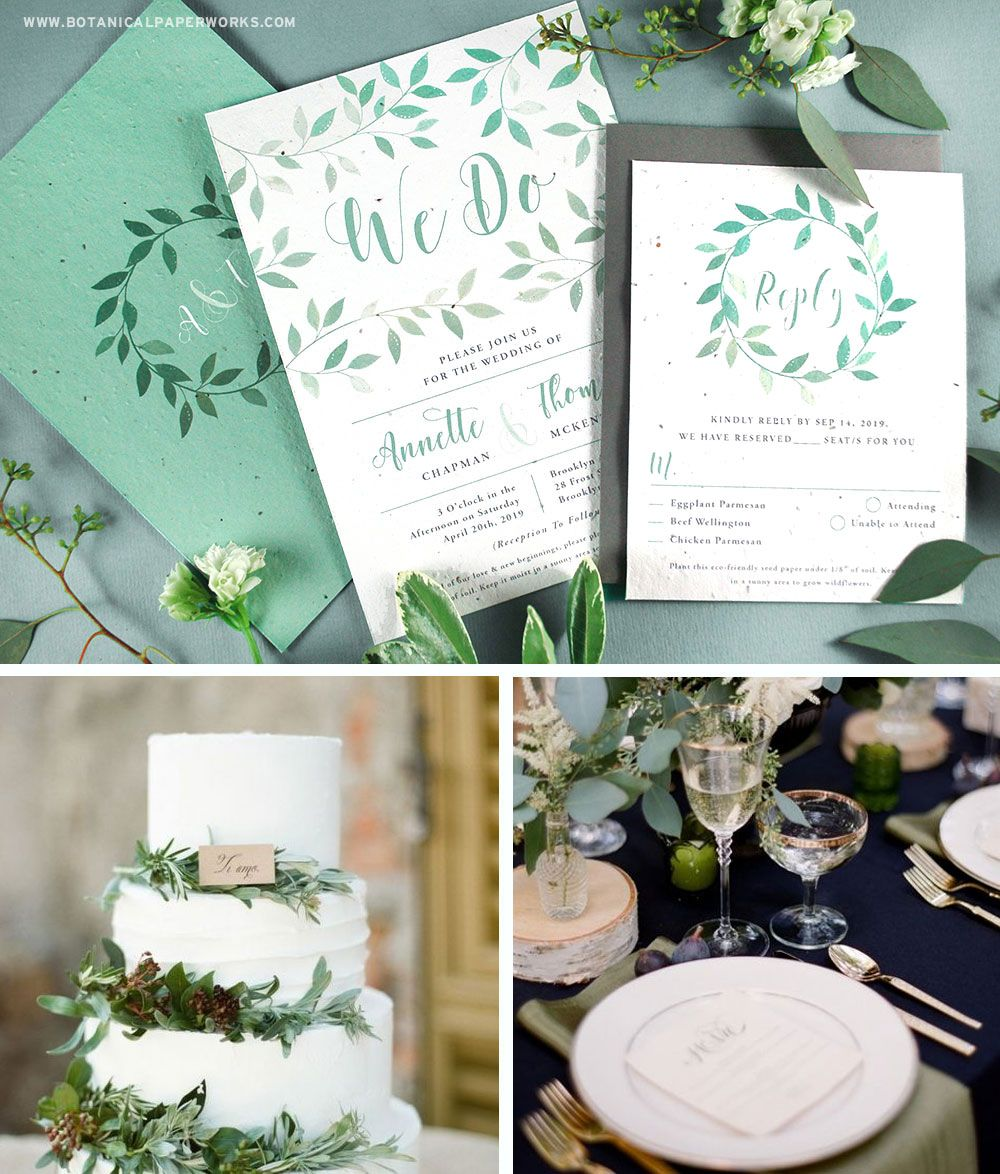 These new plantable wedding invitations are perfect for stylish ...